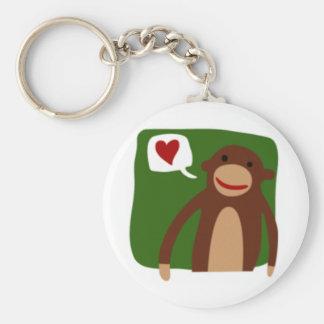 monkey love keychain