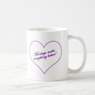 Monkey Love - Monkeys Make Everything Better Coffee Mug