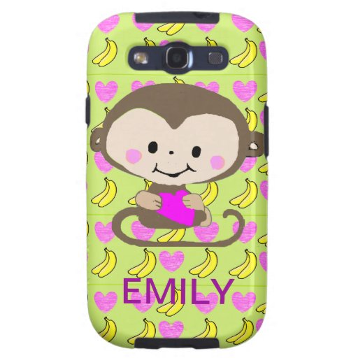 Monkey Love - Personalized Samsung Galaxy SIII Covers