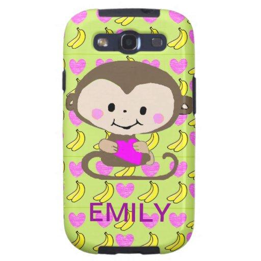 Monkey Love - Personalized Samsung Galaxy SIII Case