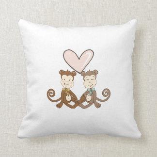 Monkey Love Throw Pillows