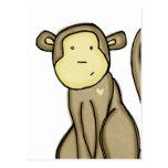 monkey love postcards