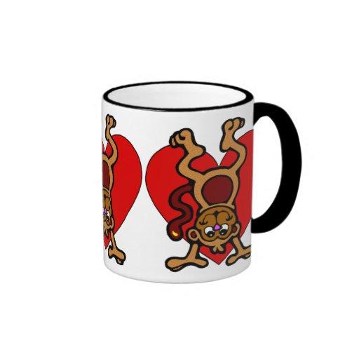 Monkey Love Ringer Coffee Mug