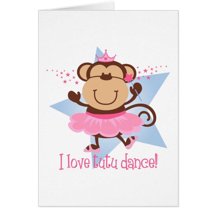 Monkey Love Tutu Dance Card