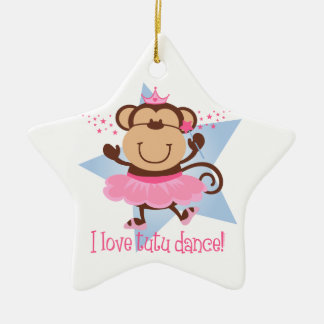 Monkey Love Tutu Dance Ornament