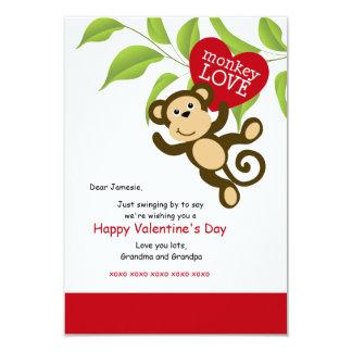Monkey Love Valentine's Day Card