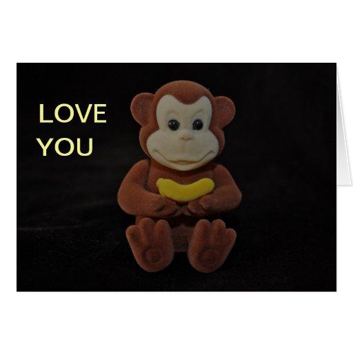 monkey you greeting card zazzle