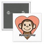 Monkey Lover Button