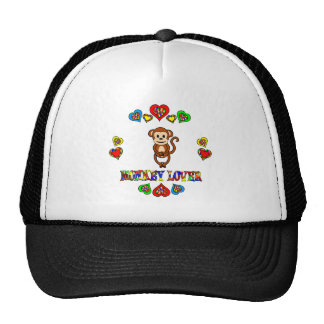 Monkey Lover Mesh Hats