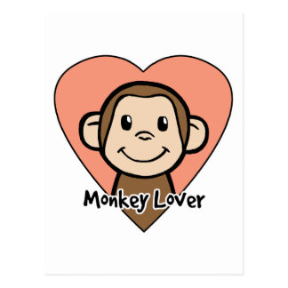 Monkey Lover Postcard