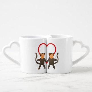 Monkey Lovers Lovers' Mug Couples' Coffee Mug Set
