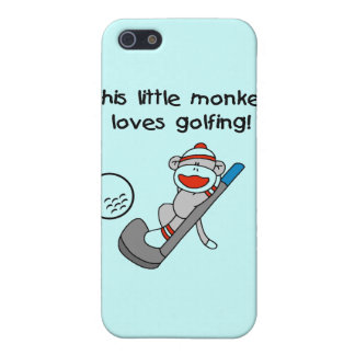 Monkey Loves Golfing T-shirts and Gifts iPhone 5 Cases