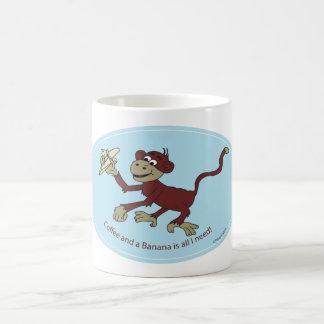 Monkey Lovin Cup Classic White Coffee Mug