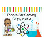 Monkey Mad Scientist Science Birthday Thank You Postcard