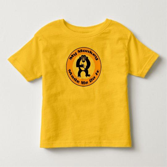 Monkey Made Me K Toddler T-shirt