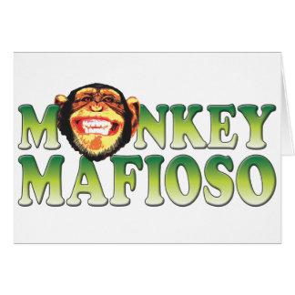 Monkey Mafioso Greeting Card