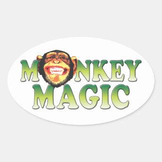 Monkey Magic Oval Sticker