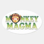 Monkey Magma Oval Sticker