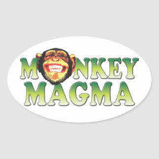 Monkey Magma Oval Stickers
