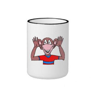 Monkey Making Face Mugs