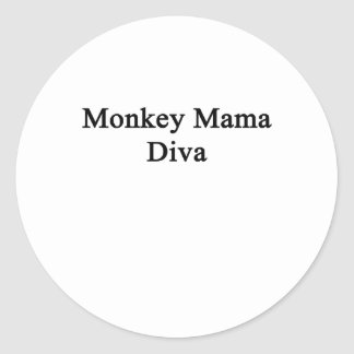 Monkey Mama Diva Classic Round Sticker