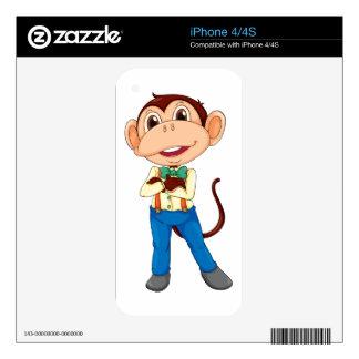Monkey man iPhone 4S skins