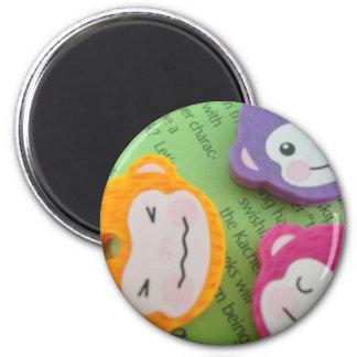 Monkey Mania 2 Inch Round Magnet