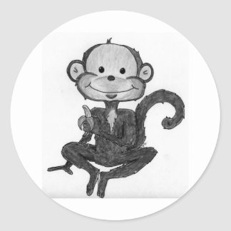 Monkey Mania Classic Round Sticker