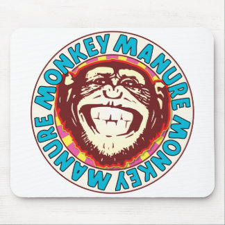 Monkey Manure Mouse Pad