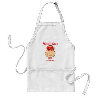 Monkey Mardi Gras gear: T-shirts and mugs Adult Apron