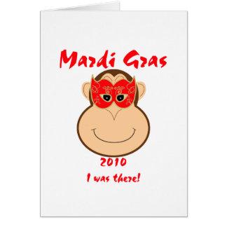Monkey Mardi Gras gear: T-shirts and mugs Card