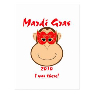 Monkey Mardi Gras gear: T-shirts and mugs Postcard