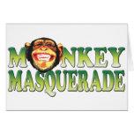 Monkey Masquerade Greeting Card