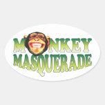 Monkey Masquerade Stickers