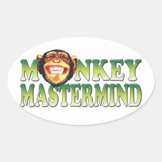 Monkey Mastermind Oval Stickers