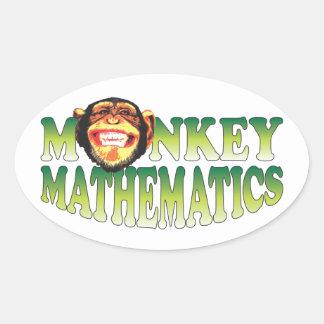 Monkey Mathematics Oval Sticker