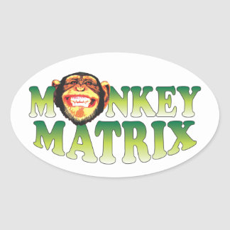 Monkey Matrix Oval Stickers