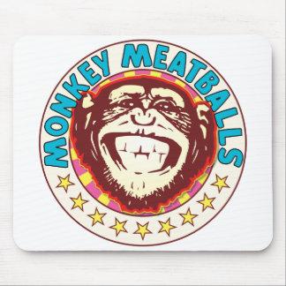 Monkey Meatballs Mouse Pad