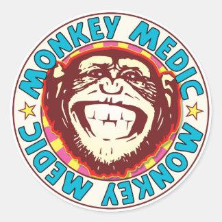 Monkey Medic Classic Round Sticker