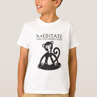 Monkey meditating yoga T-Shirt