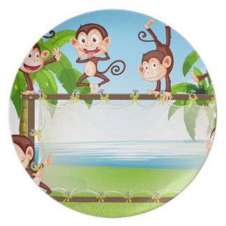 Monkey Melamine Plate