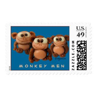Monkey Men -3 Funny Monkeys- Personalized Postage