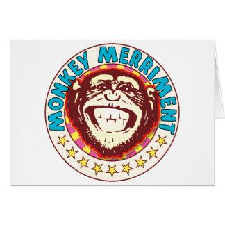 Monkey Merriment Greeting Card