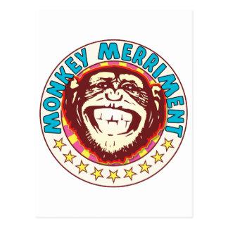 Monkey Merriment Postcard