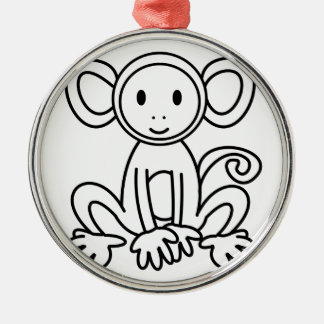 Monkey Metal Ornament