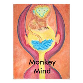 Monkey mind print