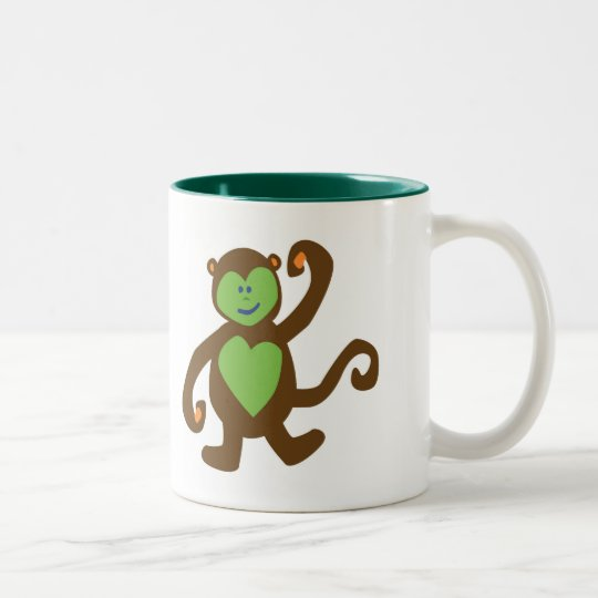 Monkey Mischief Two-Tone Coffee Mug