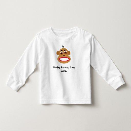 monkey, Monkey Business is my game. Tee Shirt