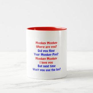 Monkey Monkey Two-Tone Coffee Mug