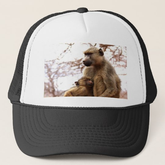 monkey mother love and joy trucker hat